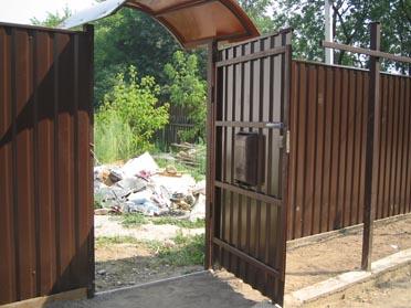 Забор из профнастила для дачи киев