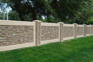 Забор из бетона заказать