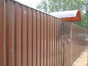 Забор из профнастила для дачи недорого