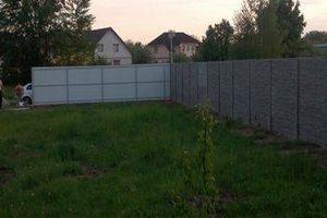 Бетонный забор фото