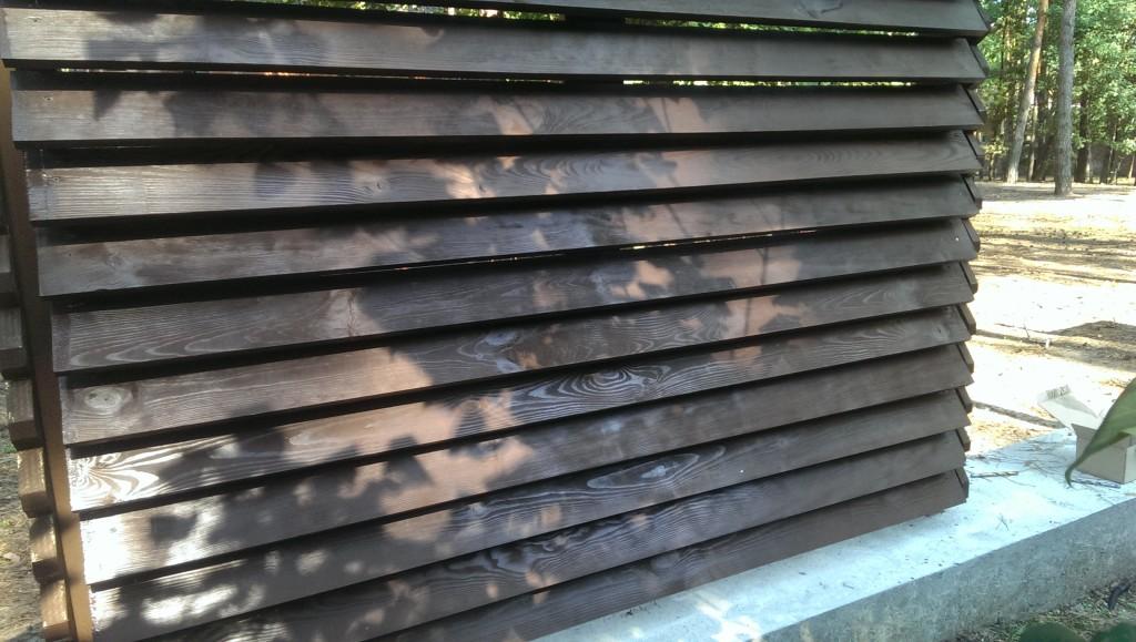 Как сделать забор жалюзи из дерева своими руками 74