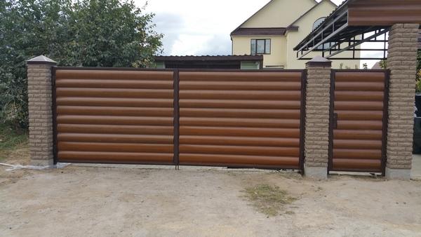забор из профнастила цена киевская область установка
