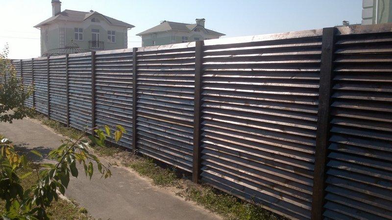 Забор из дерева в Киеве низкие цены