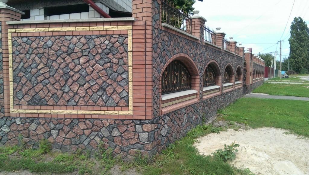 Забор из гранита киев