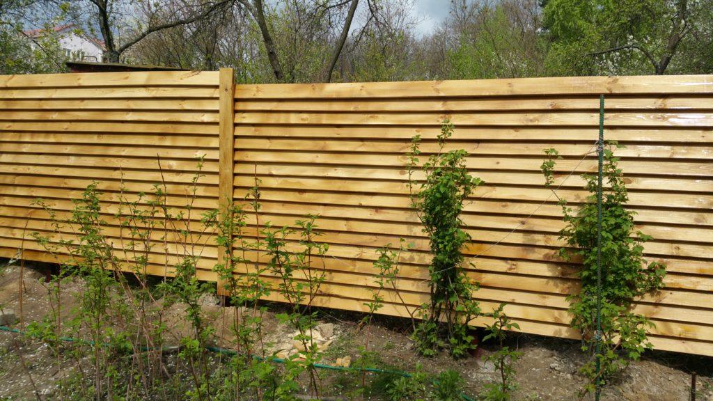 деревянный забор киев