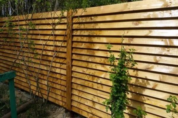 Как сделать забор жалюзи из дерева своими руками 43