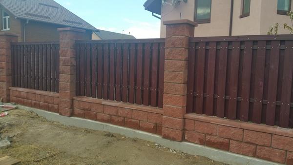 забор из колотых блоков ТМ Золотой Мандарин цена