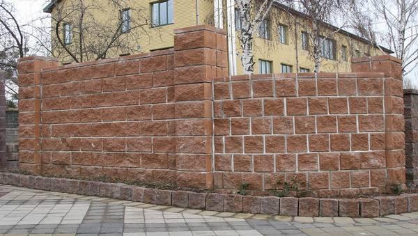 забор из колотых блоков ТМ Золотой Мандарин