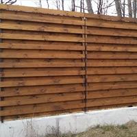 Забор из сосновой доски
