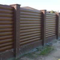 Забор из клинкерного кирпича Евротон