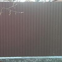 Забор из профнастила без фундамента (стандартный вариант)