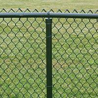 Забор из сетки рабица в ПВХ покрытии