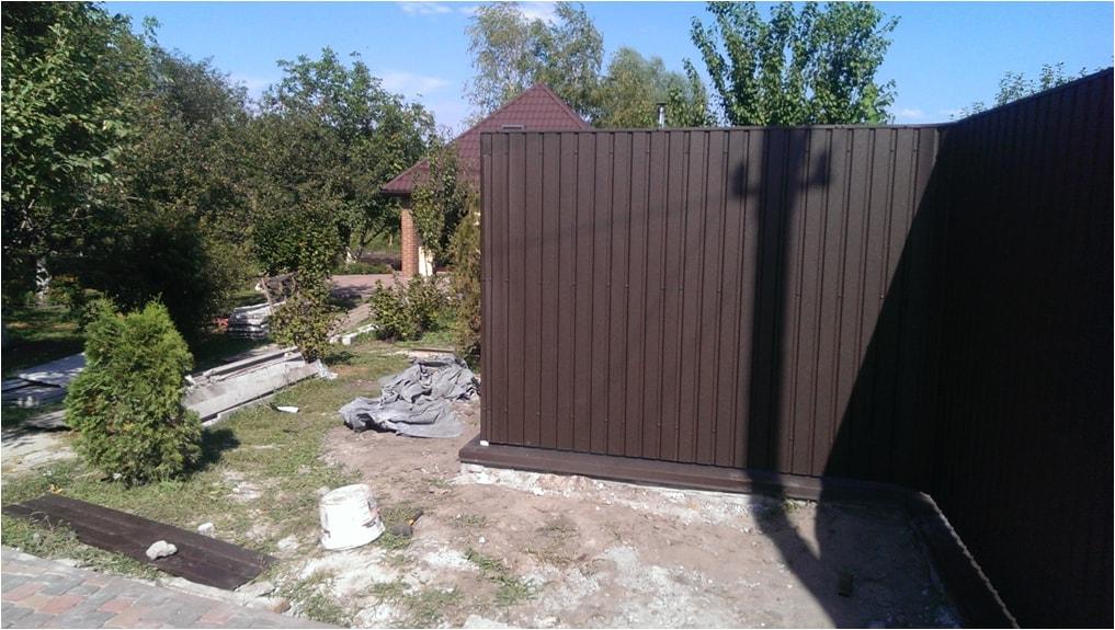 Забор из профнастила Элит
