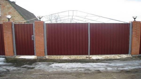 Ворота с калиткой в Киеве под ключ