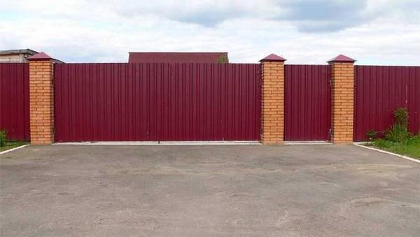 Ворота и калитка в Киеве под ключ