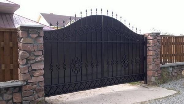 Ворота с калиткой в Киеве
