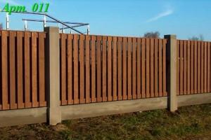 Комбинированный деревянный забор