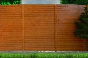 Деревянный забор «штакетник»