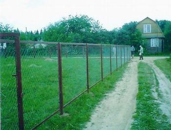 Забор из сетки рабицы Киев
