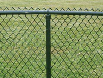Забор из сетки рабицы заказать
