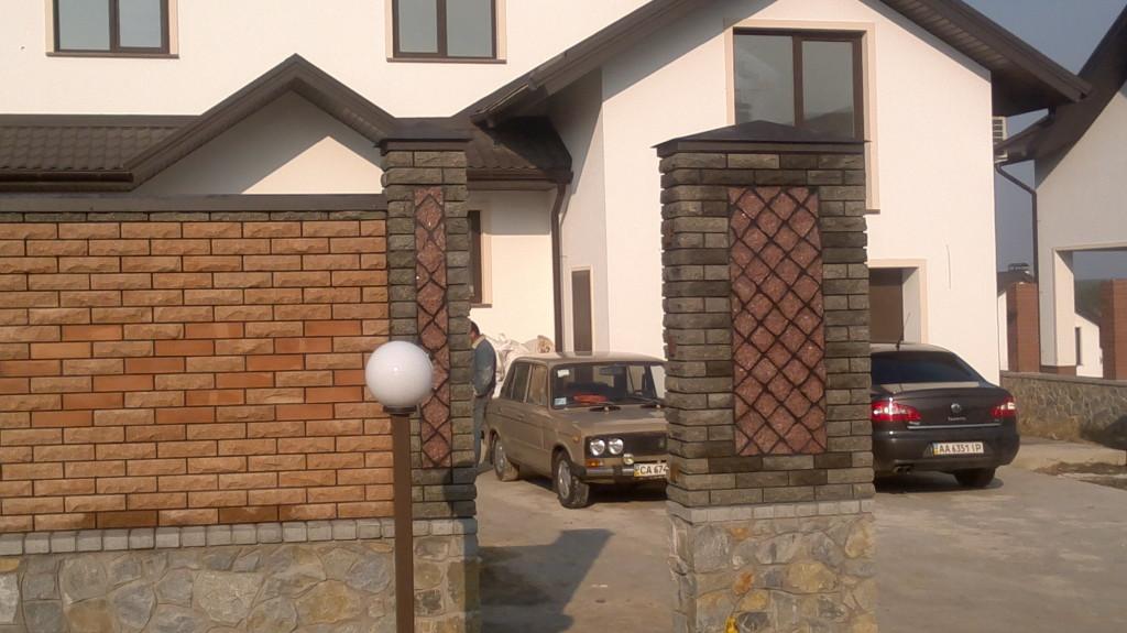 Забор из кирпича Фагот