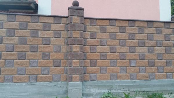 забор из колотых блоков ТМ Золотой Мандарин купить