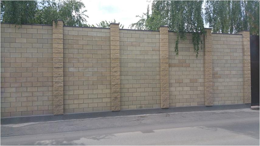 Забор Китайская стена сплошной Киев