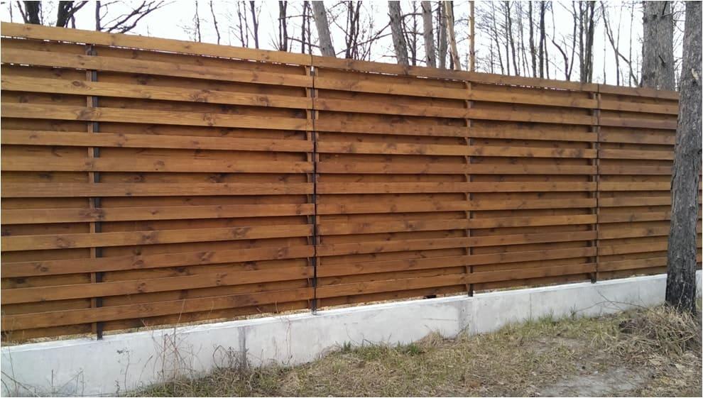Забор из сосновой доски купить