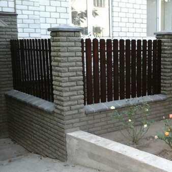 купить забор из кирпича Фагот