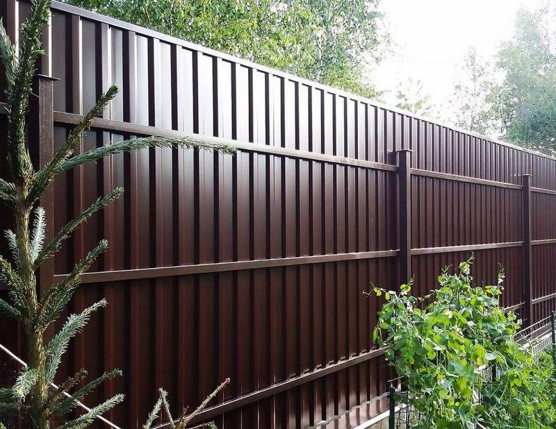Забор из профнастила Элитный