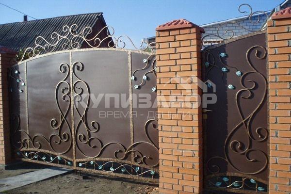 кованные ворота фото киев