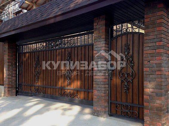деревянные ворота фото киев