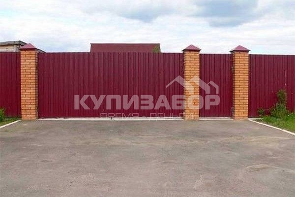 ворота из профнастила фото киев