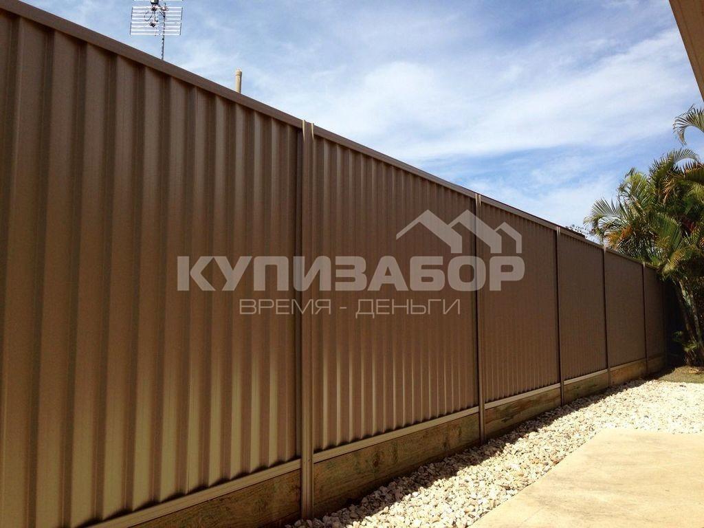 забор из профнастила фотогалерея