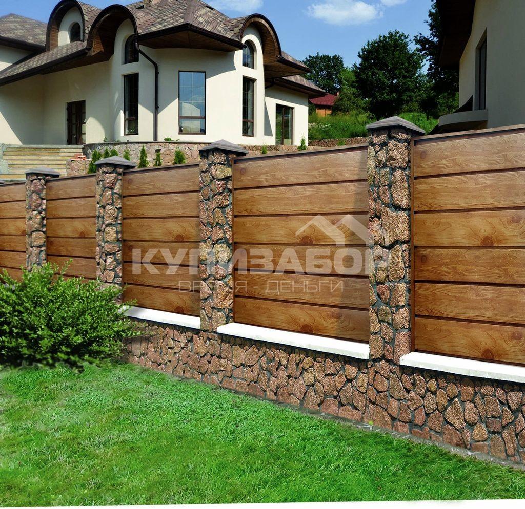 забор из дерева фото