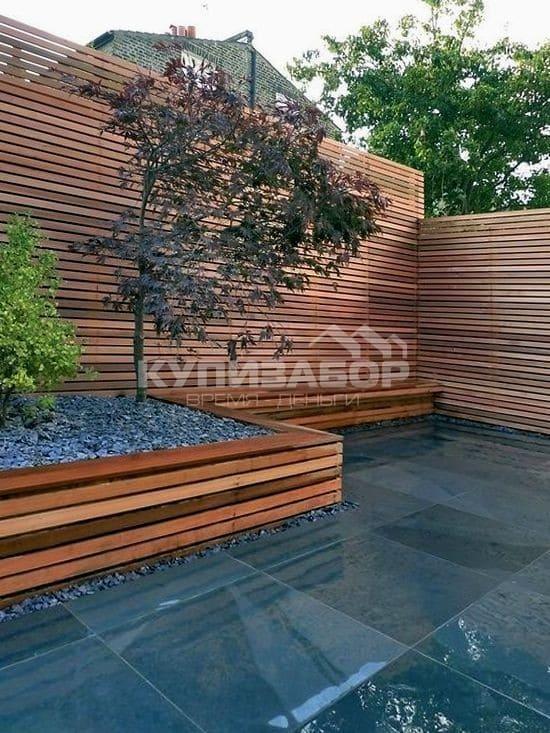 дизайн деревянного забора