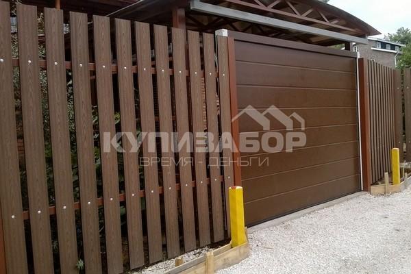 забор из древесно-полимерного композита цена